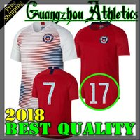 Wholesale Alexis Sanchez - 2018 World Cup home away jersey 18 19 Chile soccer jerseys Sanchez ALEXIS VIDAL MEDEL football jersey shirt