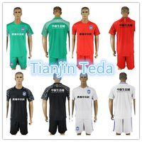 Wholesale china clubs - 2018 China Tianjin Teda Football Club jerseys Luciano Esteban Olguín and Ideya Men's Football Short Sleeve Tracksuits