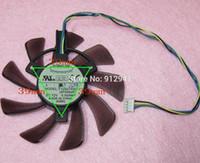 tarjetas gráficas amd al por mayor-Reemplazo del ventilador del refrigerador de la tarjeta de gráficos / video de 85mm T129215SU Conector de 39mm 12V 0.50A de 4 pines para ASUS GTX460 GTX560 HD6790 HD6870