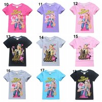 adrette tshirts großhandel-Sommer Jojo Siwa Baby-Mädchen-T-Shirt-Kurzschluss-Hülsen-T-Shirts für Kinder Bobo Choses T-Shirt Kindersport-Kleidung 4-12y