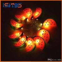 décorations de chambre cool achat en gros de-Éclairage de vacances 10 LED Cool Watermelon String Lights Mariage Garden Party Bébé Enfants Chambre Décoration