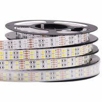 Wholesale double rgb strip for sale - Group buy 5M DC V Led led m waterproof SMD RGB Warm White led strip Double Row Flexible ribbon tape light