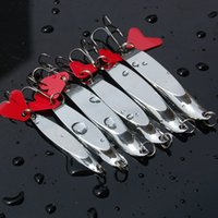 Wholesale bass trout lure online - Ocean Fishing Dexter Wedges Bevel Cut Spoon tackle Lure Bright Silver Color Bass Pike Catfish Trout hooks Lures g g g g g