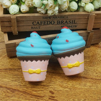 Wholesale ice box cake - Simulation Ice Cream Cake Squishy Slow Rebound Decompression Toys Cute PU Bread Squishies Squeeze Toy New Arrive 11tma C