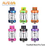 Wholesale pro tubes - Freemax Mesh Pro Subohm Tank Atomizer 5ml Double & Triple Mesh Coil Sub Ohm Tank with Extra 6ml Glass Tube 100% Original