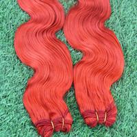 28 parça saç örgüsü toptan satış-Yun Tian Prenses Saç Brezilyalı Vücut Dalga 8-28 inç 2 Parça Kırmızı İnsan Saç Paketler Çift Atkı Olmayan Remy Saç Örgü Demetleri