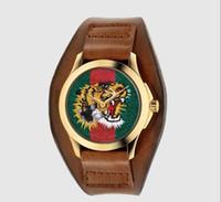 weiche lederarmbänder großhandel-Heißer Verkauf 2018 frauen Uhren Weiche Ledergürtel Goldene Mode Armbanduhr Mit Strass Quarz Weiblichen Uhr Armband Reloje