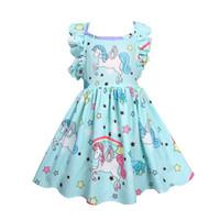Wholesale cute party dresses for sale - Girls Dress Unicorn Kids Clothing Summer Fashion Sleeveless Vest Cute Princess Party Dress Kids Costume Princess