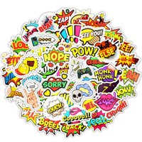 Wholesale popular toys for kids resale online - 50 Pop Style Text Popular Internet Language Stickers Toys for Kids Creative Buzzword Stickers Gadgets Gift to DIY Scrapbook Suitcase