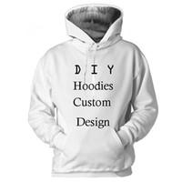 casacos de impressão 3d venda por atacado-Hoodies 3d Design Personalizado 3D Impressão Moletom Com Capuz Camisola Moletom Jaqueta Pullover Homens Mulheres Top Casais Outwear S-5XL Custom Made Drop Ship