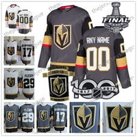 1df7b39b8 Custom Vegas Golden Knights 2018 Stanley Cup White Any Name Number  29  Fleury Sewn Inaugural Season 100TH Patch Stitched Hockey Jerseys