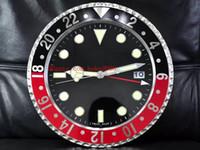 kg stahl großhandel-8 Stil Luxus Hochwertige Uhr Wanduhr 34 CM x 5 CM 3 KG Edelstahl Quarz Elektronische Blaue Leuchtende Uhr