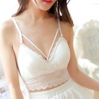 90427072a3 full transparent bra NZ - Sexy Women Lace lingerie Thin Cross Bandage Bra  Bralette Crop Tops