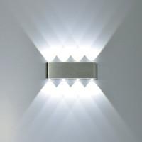 spot led lampe 8w großhandel-8 Watt Moderne Rechteck LED Wandleuchten Leuchte Aluminium High Power 8 LED Up Down Wandleuchte Spot Licht Treppenlicht 2 stücke