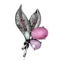 gemas de vestir al por mayor-Broche Simple Retro Floral Hojas Diamante Pin aleación Diamante Gema Corsé Europa Estados Unidos Personalidad de la moda Alta Joyería Ropa Mujeres