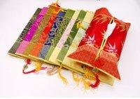 çini dekoratif toptan satış-Ucuz Yeşim Çin düğüm Doku Durumda Dikdörtgen Patchwork Ipek Kumaş Püskül Dekoratif El Sanatları Çıkarılabilir Kleenex Kutuları Kapakları