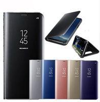 flip cover schlaf großhandel-Ultradünner Luxushybride Smart Leather Flip-Schlafkoffer galvanisiert mobilen Schutz mit transparenter Abdeckung für iPhone X XR XS PLUS