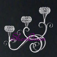 suporte de vela do casamento do vidro de cristal venda por atacado-frasco de vidro de design exclusivo com suporte de vela de vidro em forma de cloche, suporte de vela de cristal de casamento para decoração à venda