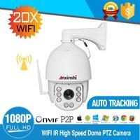 caméras ip66 ptz achat en gros de-Caméra IP sans fil de suivi automatique PTZ 32G PTZ 1080P Lens4.7--90mm IP66 Onvif 2.4 Wifi caméra de sécurité intelligente de suivi automatique