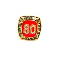 Wholesale collection tins - SF 49ERS JERRY RICE 2010 HOF RINGS WITH BROWN WOODEN DISPLAY BOX FOR FOOTBALL FANS COLLECTION