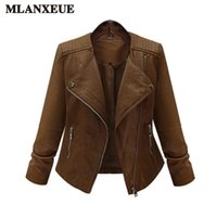 57b3763af7b Large Size Ladies Coat 2017 Faux Leather Jackets Lady Brown Matte Motorcycle  Biker Zippers Coats Sexy Outerwear Autumn Jacket