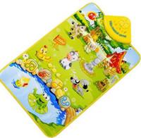 esteiras de aprendizagem venda por atacado-Early Learning Brinquedos Infantis Do Bebê Animal de Fazenda Música Musical Toque Jogar Ginásio Tapete Tapete de Brinquedo de Presente Crianças Brinquedos Educativos MM3
