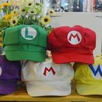 супер марио бейсболки оптовых-Super Mario Bros Косплей Шапки Восьмиугольная Дизайнерская Бейсболка с Свободным Поясом Многоцветный Мультфильм Аксессуары 6 5fh WW