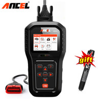 Wholesale pro scanner - Auto Car ODB2 OBD2 Scanner Diagnostic Tool Universal Engine Code Reader ANCEL AD510 Pro with gift Car Brake Fluid Tester Pen