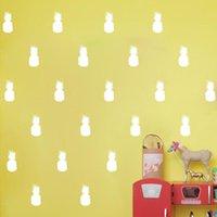 ev dekor ananas toptan satış-1 ADET Ananas Çıkarılabilir Duvar Çıkartmaları Oturma Odası Ev Pencere Dekor Yaratıcı Çıkartmaları 10 cm x 5 cm