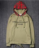 Wholesale fashion scotland - Fashion Brand justin bieber SUP Simple Scotland mens coat Plaid Blue Patchwork hoodies sup skateboard hip hop outdoor sport Lovers shirt