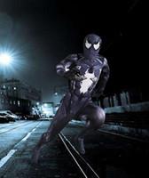 zentai catsuit movie al por mayor-mes Venom Symbiote Catsuit Disfraces Disfraces de Halloween ropa para adultos Película Cosplay Skinny Jumpsuit Envío gratis