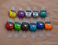Wholesale free counters - Mini Hand Hold Band Tally Counter LCD Digital Screen Finger Ring Electronic Head Count Tasbeeh Tasbih Free DHL