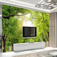 loja de roupas de escritório venda por atacado-Murais de madeiras 3D papéis de parede revestimentos de parede personalizado paisagem natural murais de escritório do hotel loja de roupas restaurante papel de parede