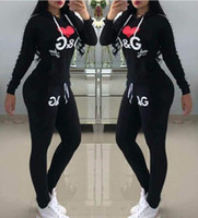 Wholesale sexy baseball for sale - Luxury designer sweatshirt Alphabet print outfits Tracksuits Long Sleeve Top Full Pants pink sexy clothing Two Piece women casual tracksuit