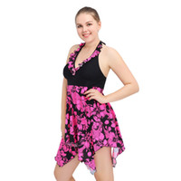 f2336c218d307 New Summer beach wear purole flowers fashion swimsuit High Quality Women  Water Sports Swimwear Strips with chest two-piece suits