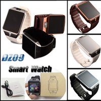 Wholesale smartphone retail box - DZ09 Smart Watch Bluetooth Smartwatches Smart Watches with Camera SIM Card for Android Smartphone SIM Intelligent Watch with Retail Box