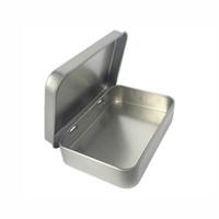 minze süßigkeiten feld großhandel-Plain Silber Dose 8,8x6x1,8 cm, Rechteck Tee Minze Bonbon Visitenkarte usb Aufbewahrungsbox Fall