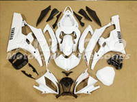 Wholesale 3 Free gifts New Injection ABS Fairing Kits Fitment For YAMAHA YZF R6 YZF600 R6 bodywork set White D12