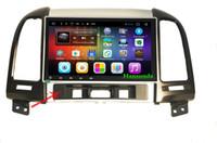 hyundai pouces écran achat en gros de-Grand écran 9 pouces de voiture multimédia multimédia gps de navigation système Android OS 6.0 pour Hyundai Santa Fe (2ème génération)