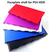 yedek hdd toptan satış-Ücretsiz kargo Yedek Sabit Disk Sürücüsü HDD Bay faceplate shell Kapak Kılıf için PS4 Konsolu 5 renkler seçeneği