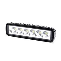 tekne led spotlar toptan satış-Pampsee 1 adet 18 W 12 V 6000 k 1200lm Spot Sel Lambası Sürüş Sis Offroad Jeep SUV 4WD Tekne için LED Çalışma Araba Işıkları Tru ...