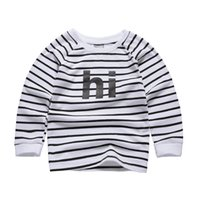 Wholesale Popular Kids Clothing - new kids t-shirts INS Popular Boys Girls full sleeve fleece fashion O neck children's clothes quality guantee