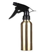 salão de ouro venda por atacado-200 ml de Ouro De Alumínio Spray de Água Vazio Garrafa de Cabelo Salão De Cabeleireiro Pro Atomizador Pulverizador Garrafa Recarregável Barbeiro Styling Ferramentas