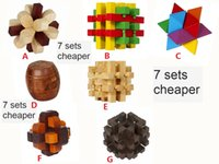 Wholesale old fashioned toys - Fashion Kids Toys Educational Wooden Model Cube Puzzle Toy for Baby Birthday Gift