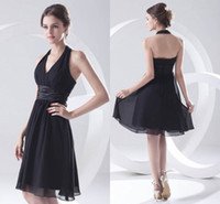 Wholesale maternity wedding guest dresses - Babyonline Chiffon Short Bridesmaid Dresses Ruched Backless Knee Length Formal Wedding Guest Maid Of Honor Cocktail Dresses ZPT214