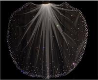 elfenbeinkamm zum verkauf großhandel-Glitter Heißer Verkauf Funkelnde Hohe Qualität 1 Schicht Kristalle Brautschleier Mit Freiem Kamm Weiß / Elfenbein Braut Zubehör Billig Verkauf