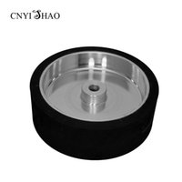 Wholesale Grinding Abrasive Wheel - CNYISHAO Flat Rubber Contact Whell 300*100*25mm Smooth Abrasive Sanding Belt Wheel for Polishing and Grinding