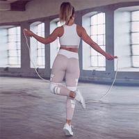 Wholesale tight yoga pant lady for sale - 2018 Ladies Leggings Printed Letter Print Geometric Mosaic Yoga Pants Women s High rise Pants Leggings Running Tights Women