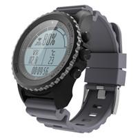 wasserdichte höhenmesseruhr großhandel-DIGGRO S968 GPS Sport Smart Watch IP68 wasserdichte Schlaf / Herzfrequenzmesser Sedentary Erinnerung Barometer Thermometer Altimeter