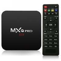 ingrosso android tv box pro 4k-Smart Box TV Android 7.1 MXQ Pro TV Box 4k S905W / H3 1G 8G Full HD Quad Core C099 con controller